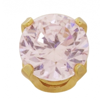 24K GP 5MM PINK ICE CZ