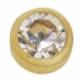 24KT Gold Plate 2mm Crystal Bezel