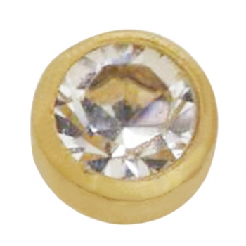 14KT Yellow Gold 2mm Crystal Bezel